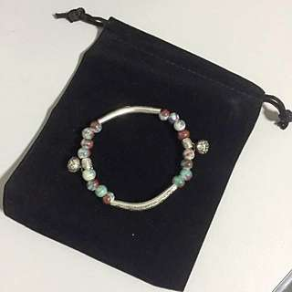 REDUCED PRICE. Charmed Silver Plated Tibetan Fashion Bracelet. With FREE small black pouch.