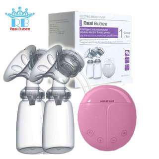 Real Bubee Double Breastpump (Pink)