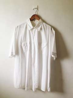 Perry Ellis white polo