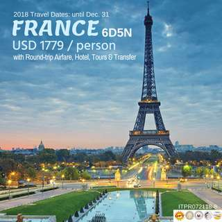 6D5N France Tour Package