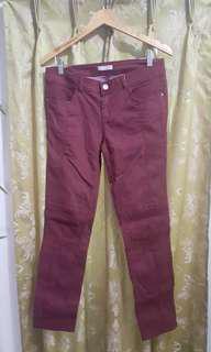 Promod Maroon Pants