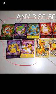 Looking for pokemon cards shown on the photo