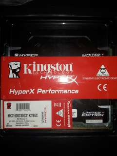 Hyper X Fury 8gb Ram DDR3 (Gaming)
