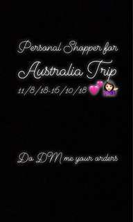 Personal Shopper Australia 💕🇦🇺 11/8-16/10