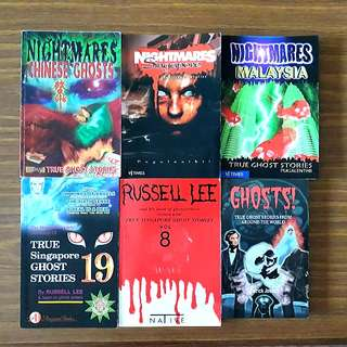 6 for $12: True Singapore Ghost Stories Volume 8 & Volume 19; Nightmares Chinese Ghosts; Nightmares Malaysia; Nightmares Singapore; Ghosts! True Ghost Stories From Around the World