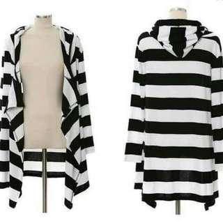 SD: Ladies Stripe Cardigan (Free Size)