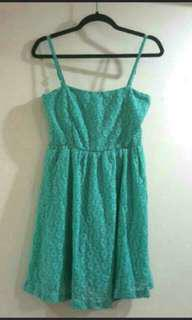 BN Green Crochet Bustier Dress / Long Top