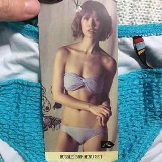 🚚 全新澳洲品牌 RUSTY 編織扭結比基尼泳裝 ROXY voda swim Wave Shine 美胸神器
