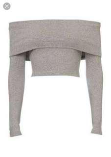 Kookai Grey off shoulder top