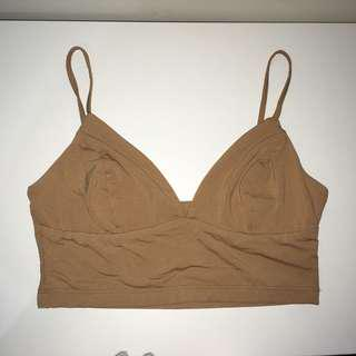 kookai everyday bralette tan size 1