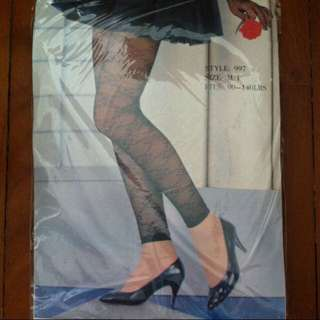 Lacy footless tights