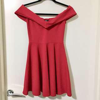 Misguided Skater Red Dress