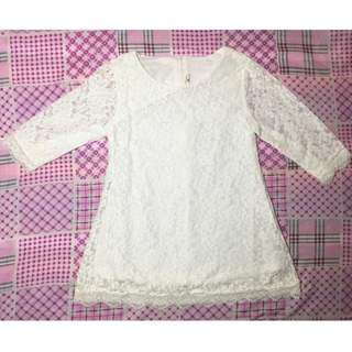 White Lacey Dress for Kids