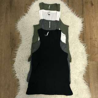 4 General pants co agent ninety nine singlets white, grey, black and khaki size xs 6