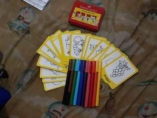 (Reprice) Faber-castell Colouring Flash Card #jualanibu