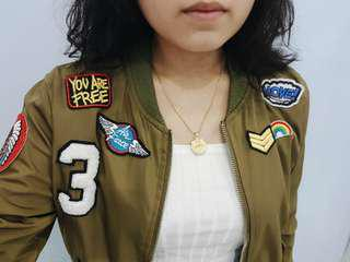 Zara Inspired BRANCHÉ Patched Olive Green Bomber Jacket