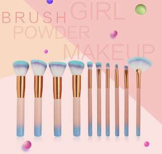 (PO) Set of 10 ombre brushes