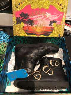 VERSACE H&M SHOES SNEAKERS BOOTS BIKER HIGH TOP SIZE 42 US9