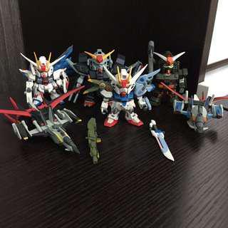 Gundam 4隻 戰機 2隻 Seed