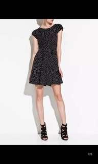 Brand new black dress with mini star prints