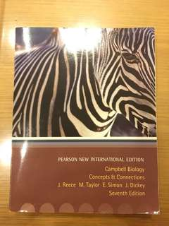 Pearson New International Edition: Campbell Biology Concepts & Connections (7th Edition) by J. Reece M. Taylor E. Simon J. Dickey