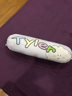 Customised name - 'Tyler' blushing cloud baby bolster