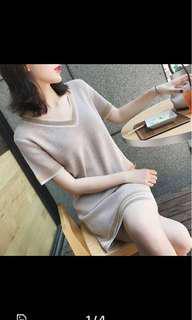 Pink / nude knit dress