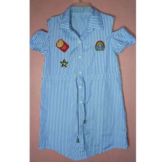 Stripes Polo Dress for Kids