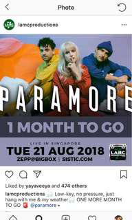 PARAMORE WITH PRIORITY ENTRY