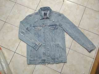 Jaket Jeans Bershka Denim Basic