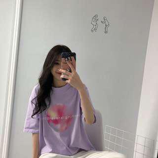 🚚 (全新免運)韓版百搭漸層印花圖片上衣短袖T恤