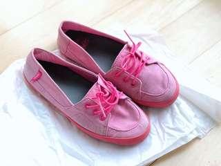 Vans pink flats US6/UK3.5