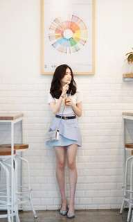 One SET (uniqlo t shirt+stripe skirt
