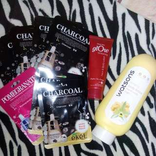 Bundle Lotion + 11 Pcs Face Mask