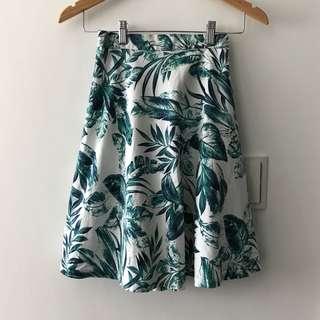 好夏天自然系麻質圓裙