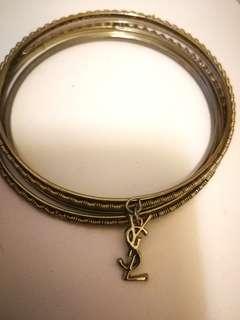 金色手鐲 ysl bracelets