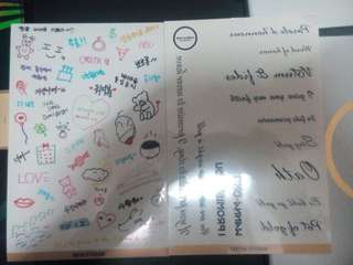 Wanna One Official MD Goods set Deco & Tatoo Sticker