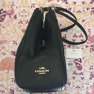 Coach black leather bag Phoebe