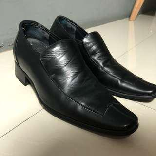 Bradford elevator shoes - Black Leather Shoes 3.5inch