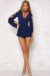 HELLOMOLLY Navy Playsuit