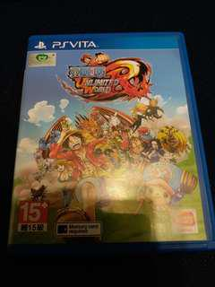 PSV PS Vita One Piece Ultimate Red