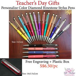 Personalize Color Stylus Pens - Teachers' Day / Mother's Day / Father's Day / Valentine's Day