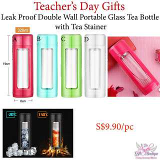 Double Wall Tea Bottle - Teachers' Day / Mother's Day / Father's Day / Valentine's Day