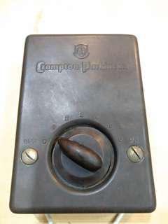 Antique Crompton Parkinson fan speed regulator