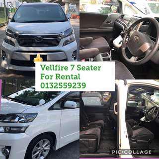 Toyota Vellfire Rental 7 seater