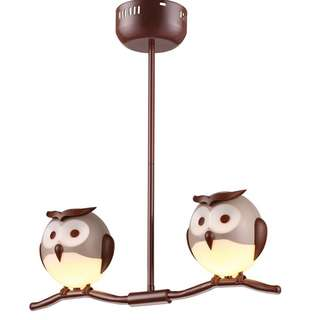 2 Pirched Owl Ceiling Lamp