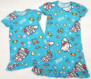全新Sanrio Hello Kitty粉藍色裙