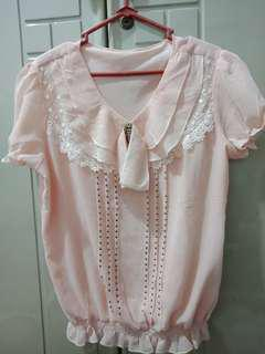 Blouse peach murah