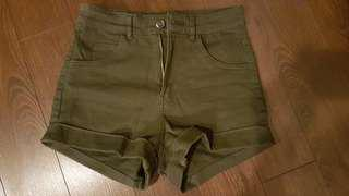 Like New - Olive Green High Waisted Shorts