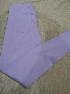 Uniqlo light purple jeggings
